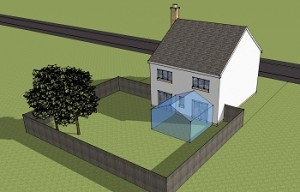 Planning Permission for conservatory to rear of house